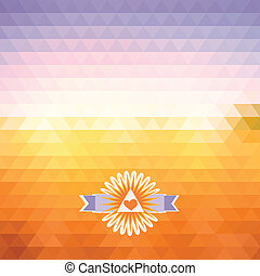 dawn triangle - abstract bright background of triangles The...