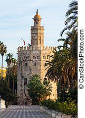 view of Torre del Oro. Seville
