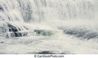 Dawson Falls pan - Dawson Falls in Wells Gray Provincial...