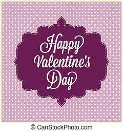 day., årgång, lycklig, kort, valentinkort