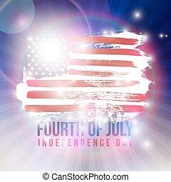 day., 4 juillet, indépendance, heureux