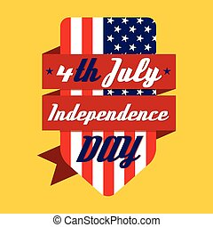 day., 4 julio, norteamericano, independencia