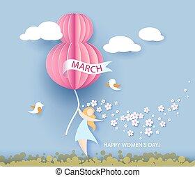 day., 8, womens, marzo, tarjeta
