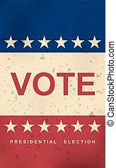 day., afisz, wybór, vote.