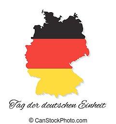 day., alemão, alemanha, independência, mapa