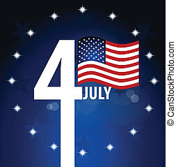 day., amerykańska bandera, niezależność