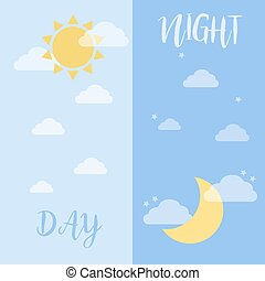 Day And Night , Sun And Moon