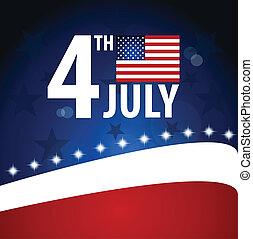 day., bandeira americana, independência