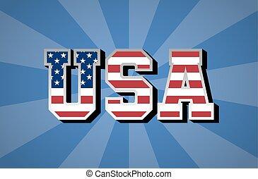 day., bandera, wybór, usa