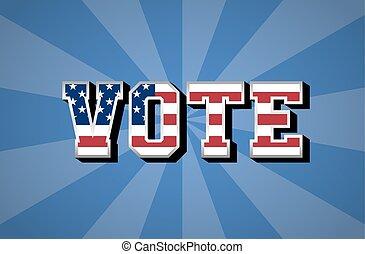 day., bandera, wybór, usa, vote.