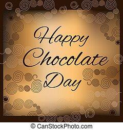 day., boldog, csokoládé