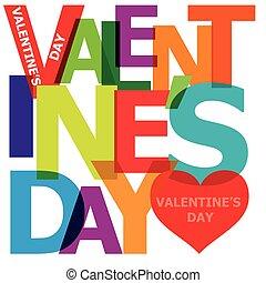 day., bruten, vektor, text., valentinkort