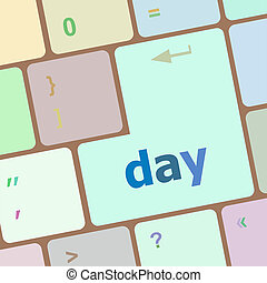 day button on computer pc keyboard key