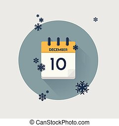 Day calendar with date December 10.