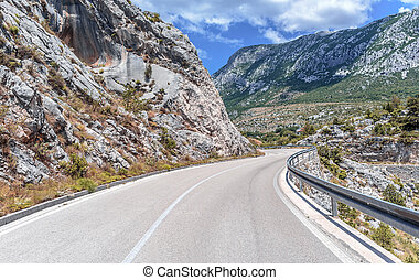 day., camino de la montaña, verano