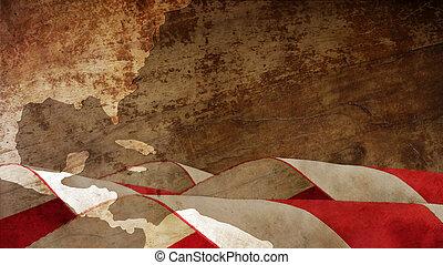 day., columbus, amerika, fahne