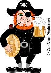 day., come, birra, bitcoin, tubo, tazza, internazionale, fumo, pirata, discorso