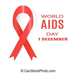 day., december., illustration., 1, vektor, welt, aids