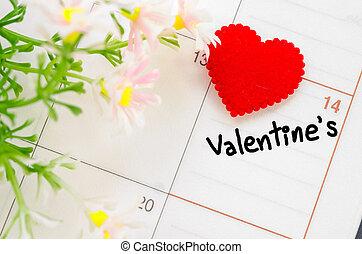 day., február, valentines, 14, szent