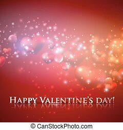 day., heureux, fond, cœurs, vacances, valentine