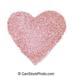 day., hjerte, vect, rød, valentine's