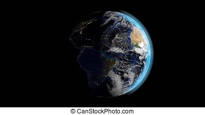 Day in night in planet earth - Animation of planet earth...