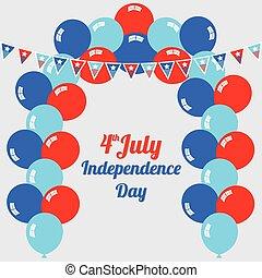day., july 第四, 獨立