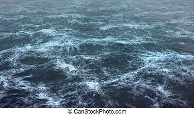 Day light sea storm background.