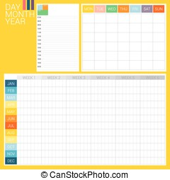 DAY MONTH YEAR - 3 types of planner, day planner, month...