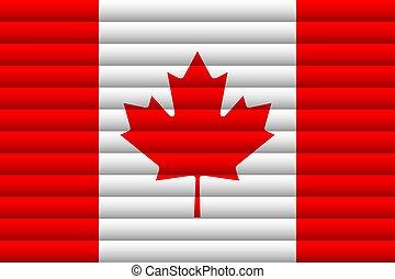 day., national, canada., drapeau, indépendance