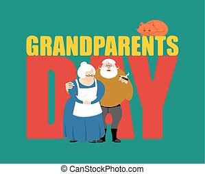 day., nonni, coppia, grandfather., nonna, maturo