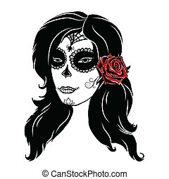 Day of dead girl