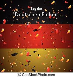 Day of German unity design. Tag der deutschen Einheit
