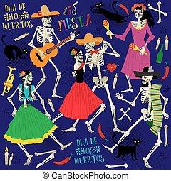 Day of the Dead. Dia de los Muertos .