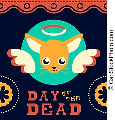 Day of the dead Mexican Chihuahua dog fun design
