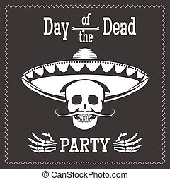 Day of the dead party poster