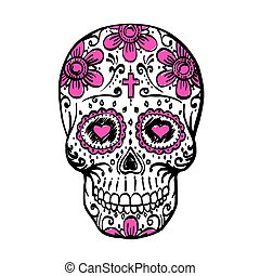 Day Of The Dead Skull sketch.