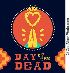 Day Of The Dead Traditional Holiday Beautiful Girl With Spooky Body Art Vector Illustration Usable For Greeting Card