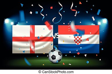 Day of the match. England versus Croatia