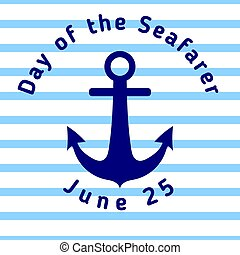 Day of the Seafarer - greeting card with anchor and with...