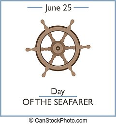 Day of the Seafarer, June25. Vector illustration for you...