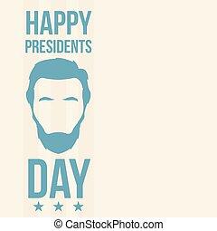 day., présidents, lincoln, heureux, abraham
