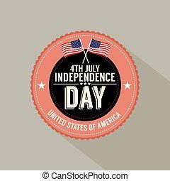 day., quatrième juillet, indépendance