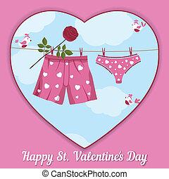 day., s., tarjeta, valentino