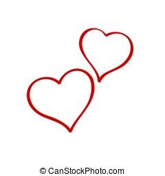 day., serca, s, dwa, valentine