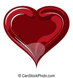 day., serce, czerwony, valentine`s