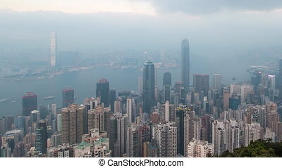 Day To Night HongKong CityScape - Time Lapse Day To Night...