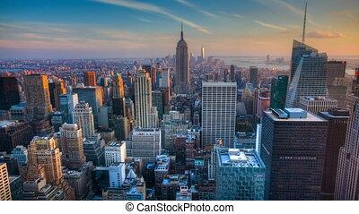 Day to night in Manhattan