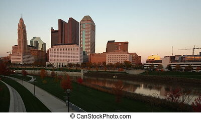 Day to night timelapse of Columbus, Ohio skyline - A Day to...
