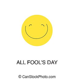 day., tout, fool's, rire, emoticon.